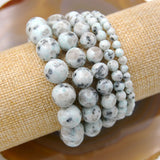 Natural Lotus Jasper Gemstone Beads Stretch Bracelet Healing Reiki
