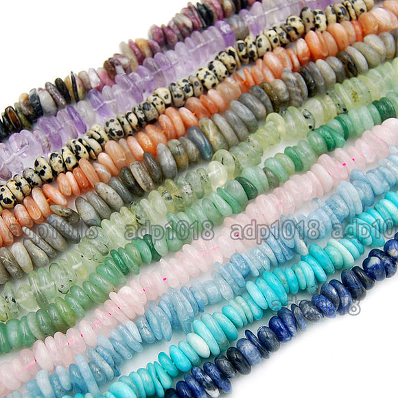 Natural Gemstone Nugget Freeform 4x8-10x13mm Spacer Loose Beads on a 15.5