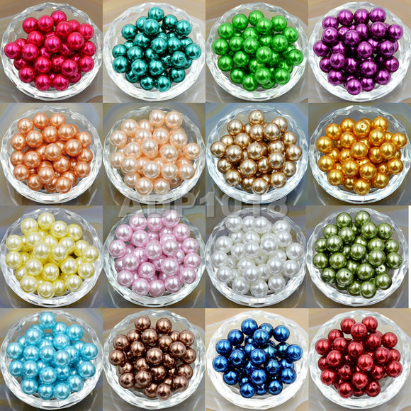 Top Quality Czech Satin Luster Glass Pearl Round Loose Beads Bag (2)