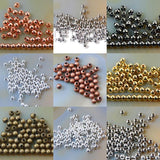 Smooth Round Solid Metal Copper Connector Spacer Charm Beads