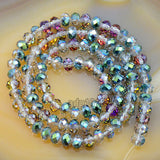 "Top Quality Czech Crystal Faceted Rondelle Beads on a 15"" Strand 4x6mm"