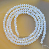 "Top Quality Czech Crystal Faceted Rondelle Beads on a 15"" Strand 2x3mm"