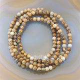 Natural Picture Jasper Gemstone Beads Stretch Bracelet Healing Reiki