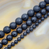 "Faceted Natural Tibetan Matte Turtle Grain Old Agate Gemstone Round Loose Beads on a 15.5"" Strand"