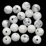 Natural Gemstone 10mm Round Loose Beads Big Hole 2mm Sized 30pcs