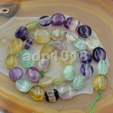 "Natural Gemstone Freeform Potato 6x8-10x12mm Loose Beads on a 15.5"" Strand"