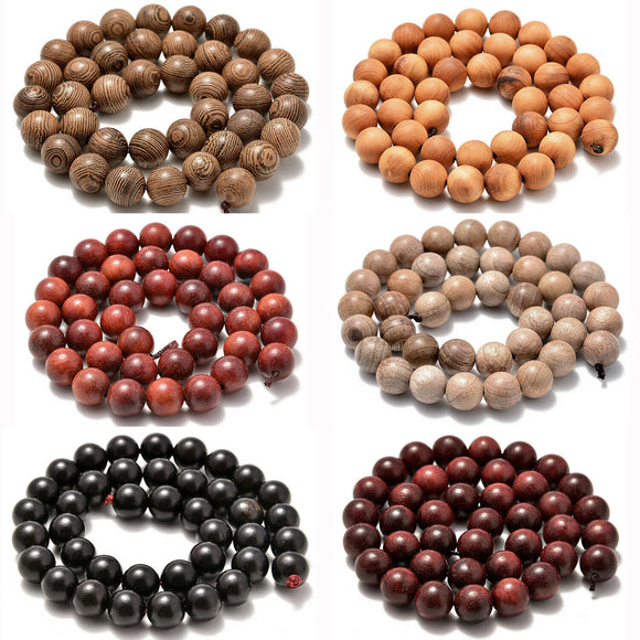 6mm 8mm 10mm Natural Wood Beads Round Polygons Spacer 15
