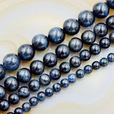 "Natural Tiger's Eye Gemstone Round Beads 7.5"" Sapphire Peridot Topaz Mix-Color"