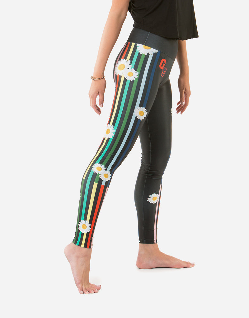 Goldsheep Happy Stripes Leggings-Goldsheep Clothing
