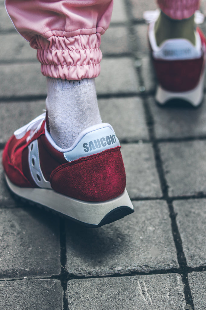 Saucony Jazz Original Vintage ' Burgundy/White'