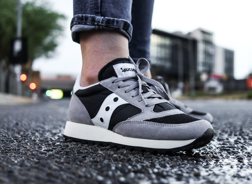 buy online 89bf5 8cb19 Saucony Jazz Original Vintage Women's 'Black/White/Grey'