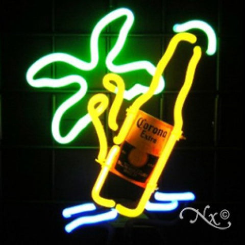 Neon Sculpture beach beer
