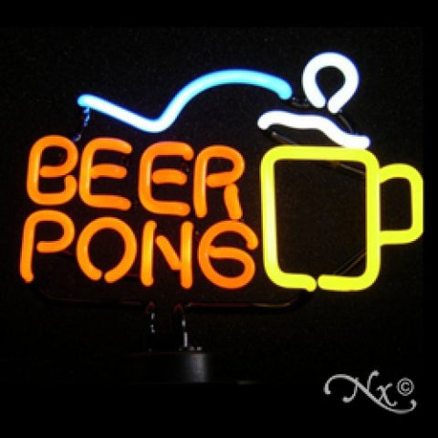 Neon Sculpture beer pong