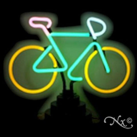 Neon Sculpture bike