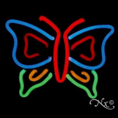 Neon Sculpture butterfly