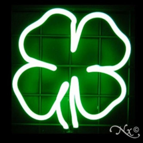 Neon Sculpture clover