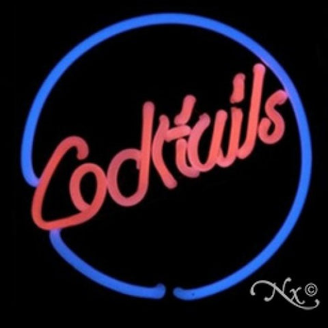 Neon Sculpture cocktails