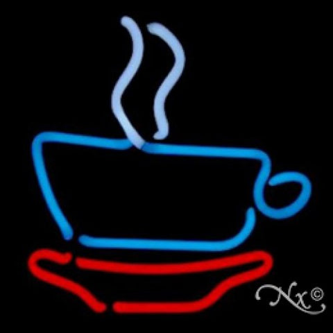 Neon Sculpture coffee cup
