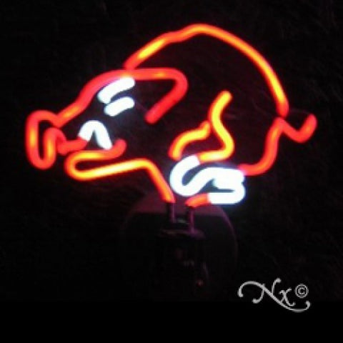 Neon Sculpture wild boar