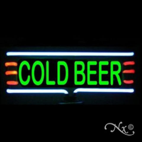 Neon Sculpture cold beer