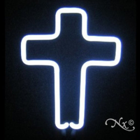Neon Sculpture cross