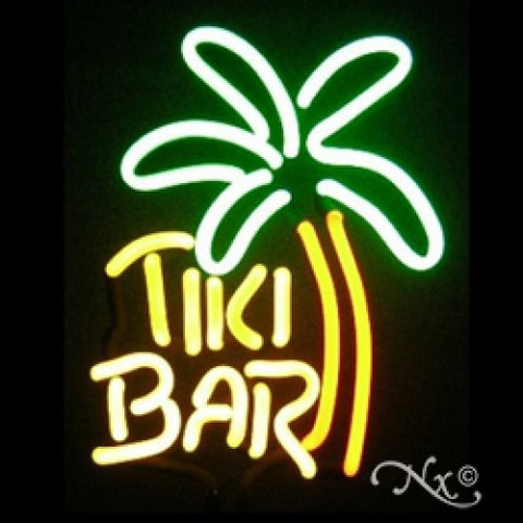 Neon Sculpture tiki palm