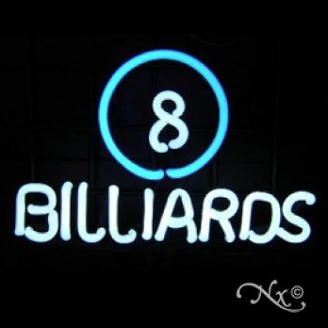 Neon Sculpture 8 ball billiards
