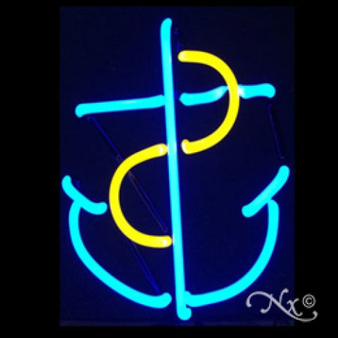 Neon Sculpture Anchor