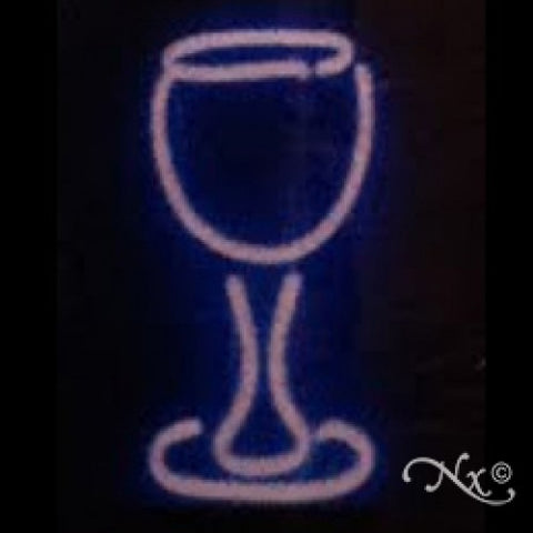 Neon Sculpture wine glass