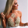 Jordan Nights White Lace Floral Crop Top