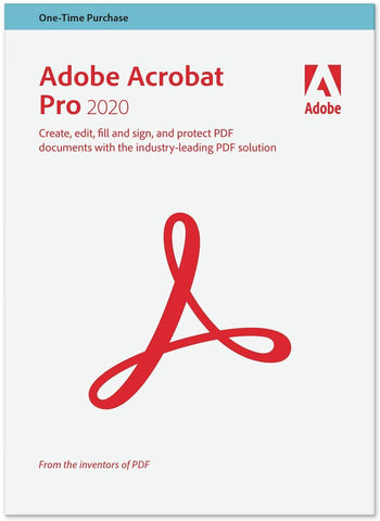 Adobe Acrobat Pro 2020 for Windows (non-subscription)