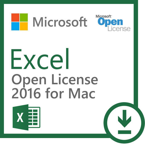 microsoft excel 2016 for mac open license