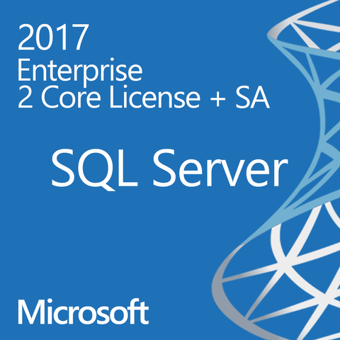 Microsoft SQL Server 2017 Enterprise 2 Core Two Cores License Digital Download Open License with Software Assurance