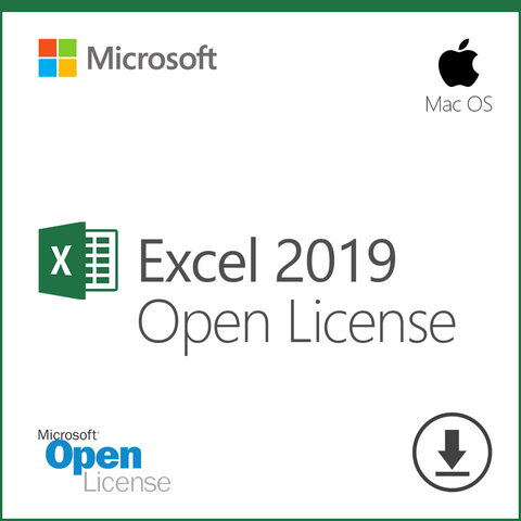 Microsoft Excel 2019 Open License Download for Mac OS