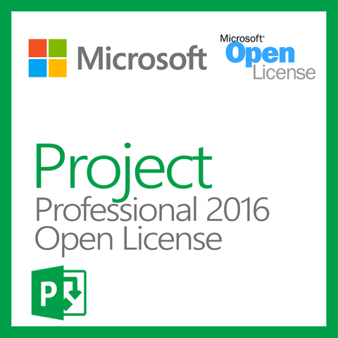microsoft project 2016 professional with 1 project server cal open license