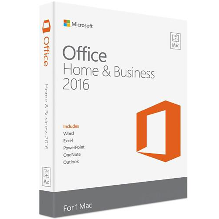Microsoft OFFICE for Mac Home and Business 2016 Retail Box