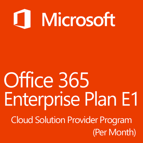 Microsoft Office 365 Enterprise Plan E1 Monthly 1 Month License