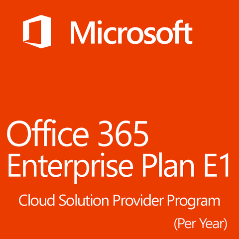 Microsoft Office 365 Enterprise Plan E1 Monthly 1 Yearly License