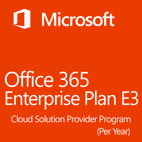 Microsoft Office 365 Enterprise Plan E3 Yearly 1 Year License
