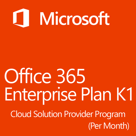 Microsoft Office 365 Enterprise Plan CSP K1 License Monthly 1 Month