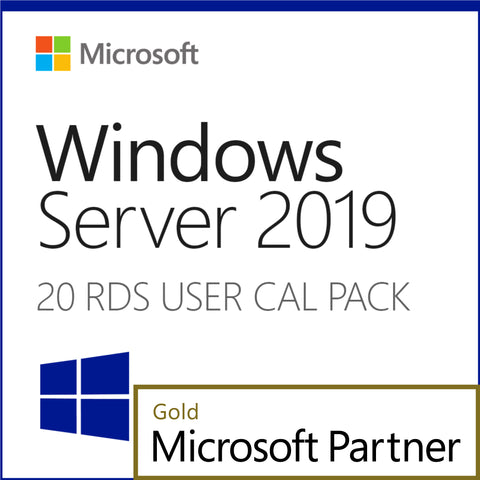 Microsoft Windows Server 2019 20 RDS User CAL Pack