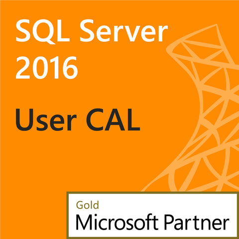 microsoft sql server 2016 user client access license 1 user cal