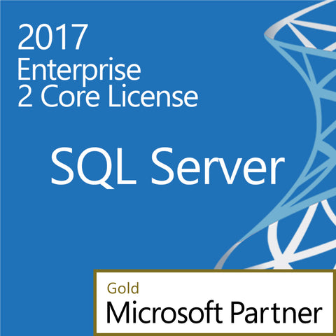 Microsoft SQL Server 2017 Enterprise 2 Core Two Cores License Digital Download Open License