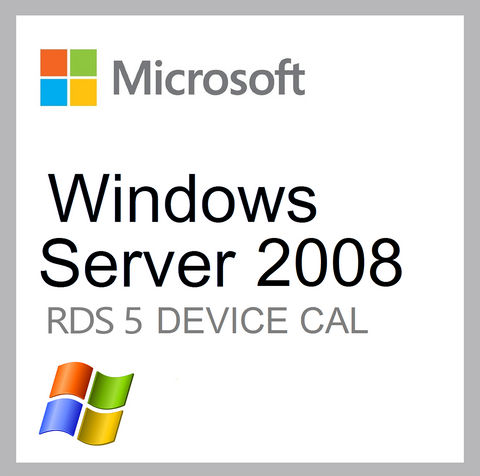Microsoft Windows Server 2008 RDS 5 Device CAL Client Access License