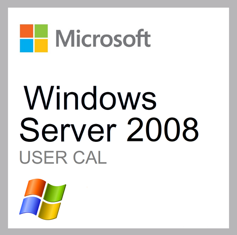 Microsoft Windows Server 2008 User CAL Client Access License 5 Pack