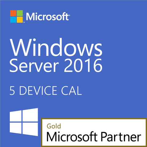 Windows Server 2016 5 Standard Device CALs