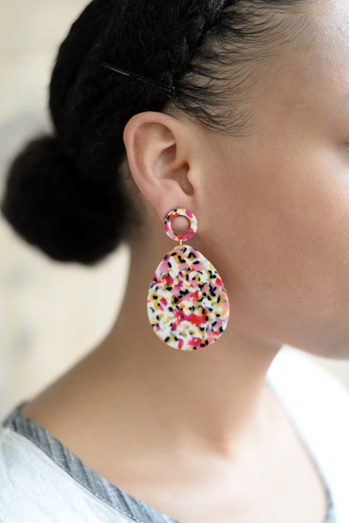 Lucite Earrings/Speckled