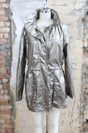 Metallic Crinkle Jacket