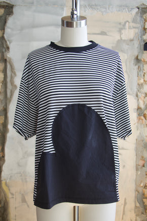 Jersey Striped Applique Tee