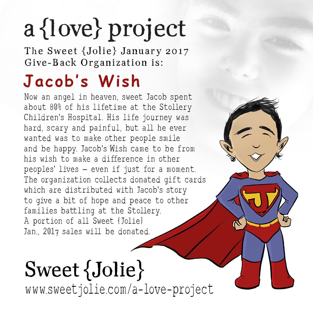 The foundation of choice  for January 2017 is Jacob's Wish